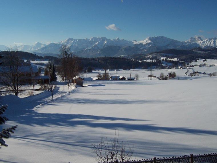 Pension Heim, Ausblick im Winter