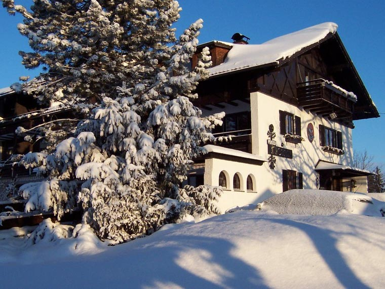 Die Pension Heim im Winter